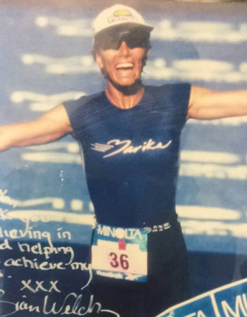 Australian Ironwoman Sian Welch's tribute to her coach Dick Caine